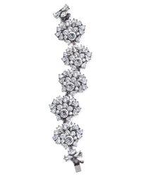 Aqua | Metallic Alexa Cluster Line Bracelet | Lyst
