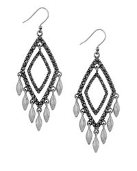 Lucky Brand | Metallic Modern Shine Double Diamond Earrings | Lyst