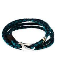 Paul Smith | Blue Braided Wrap Bracelet for Men | Lyst