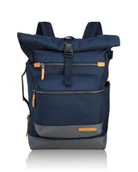 Tumi | Blue 'dalston - Ridley' Roll Top Backpack for Men | Lyst