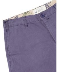Native Youth - Blue Shorts With Leaf Turn Up for Men - Lyst