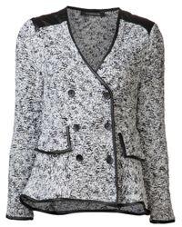 Thakoon | Black Lambskin Panel Jacket | Lyst