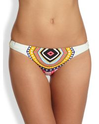Mara Hoffman | Orange Lowrise Printed Bikini Bottom | Lyst