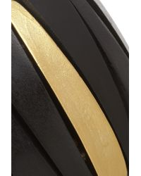 Kenneth Jay Lane - Black Wood and Goldplated Bracelet - Lyst