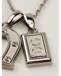 Dolce & Gabbana   Metallic Charm Pendant Necklace for Men   Lyst