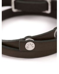 DIESEL | Brown Logo Plaque Bracelet for Men | Lyst