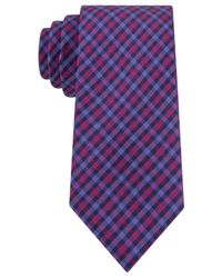 Tommy Hilfiger | Purple Multi-gingham Slim Tie for Men | Lyst
