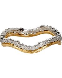 Cathy Waterman - Metallic Women's Double-band Ring - Lyst