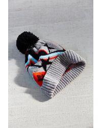 Urban Outfitters | Gray Kitschy Intarsia Pompom Beanie | Lyst