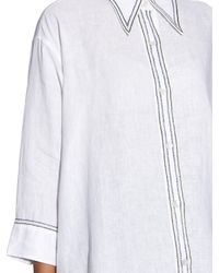 Jupe by Jackie | White Embroidered Linen Shirt | Lyst