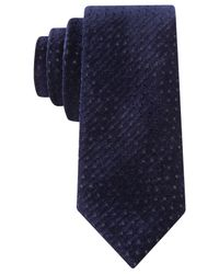 Sean John | Blue Perforated Velvet Tie for Men | Lyst