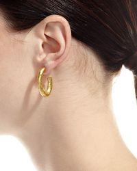 Gurhan | Yellow Galahad J Hoop Earrings | Lyst