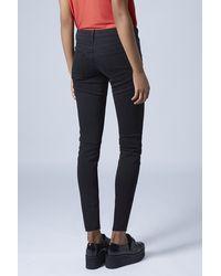 TOPSHOP | Purple Moto Black Baxter Jeans | Lyst