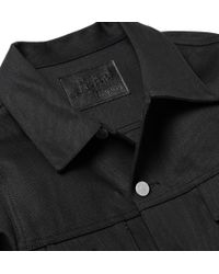 Jean Shop - Black Denim Jacket for Men - Lyst