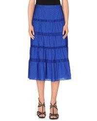 M Missoni - Blue 3/4 Length Skirt - Lyst