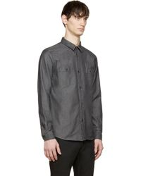A.P.C. - Black Faded Kingdome Shirt for Men - Lyst