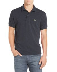 Lacoste | Blue Chine Pique Polo Shirt for Men | Lyst