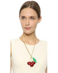 Erickson Beamon - Red Cherry Pie Necklace - Lyst