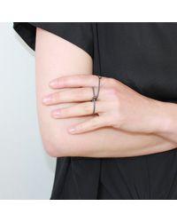 Dorota Todd - Love Double Ring Black - Lyst