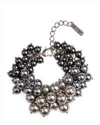 Jaeger - Gray Pearl Cluster Bracelet - Lyst