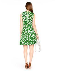Kate Spade | Green Garden Leaves Pique A-line Dress | Lyst