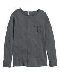 H&M   Gray Fine-Knit Jumper for Men   Lyst
