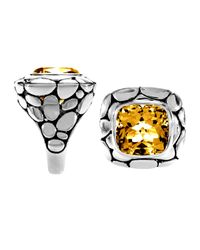 John Hardy | Metallic Kali Large Square Citrine Ring | Lyst
