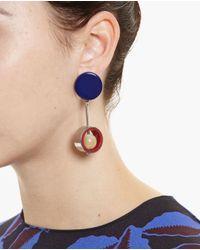 Marni | Blue Horn Pendant Earrings | Lyst