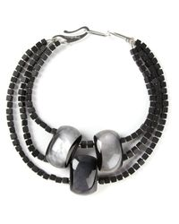 Giorgio Armani | Black Beaded Resin Necklace | Lyst