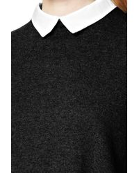 French Connection - Black Fresh Knits Shirt Jumper - Lyst
