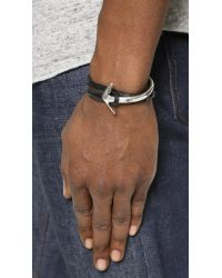 Miansai - Black Silver Plated Half Anchor Cuff for Men - Lyst