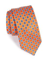 Ted Baker | Blue Geometric Silk Tie for Men | Lyst