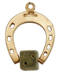 Annina Vogel | Metallic Vintage Gold Horseshoe Dice Charm | Lyst