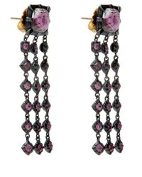 Larkspur & Hawk | Pink Large Rose Gold Quartz Earrings | Lyst