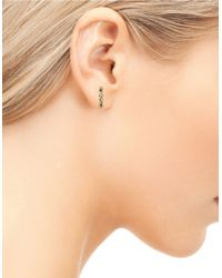Sam Edelman | Metallic Crinkled Bar Earrings | Lyst