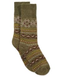 Hue | Green Women's Fairisle Boot Socks | Lyst