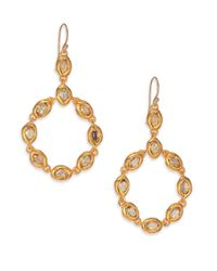 Alexis Bittar - Metallic Elements Moonlight Crystal Circle Drop Earrings - Lyst