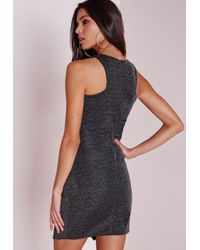 Missguided   Multicolor Racer Front Bodycon Disco Dress Multi   Lyst