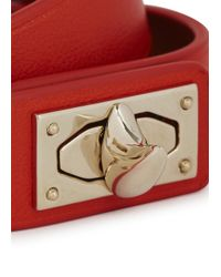 Givenchy - Red Leather Wrap Bracelet - Lyst
