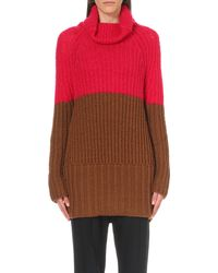 Sportmax | Brown Falena Wool-blend Turtleneck Jumper | Lyst
