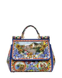 Dolce & Gabbana | Multicolor Medium Sicily Sicilia Print Leather Bag | Lyst