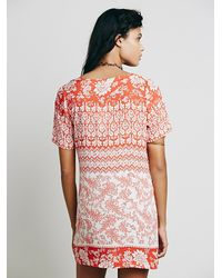 Free People - Red Roadie Dress - Lyst