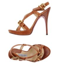 Luciano Padovan - Brown Sandals - Lyst