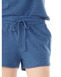 Alternative Apparel - Blue Runner Heavyweight Mock Twist Shorts - Lyst