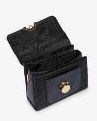 Ted Baker | Black Circle Clasp Leather Shoulder Bag | Lyst