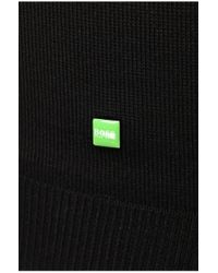 BOSS Green | Black 'zarb' | Virgin Wool Quarter-zip Sweater for Men | Lyst
