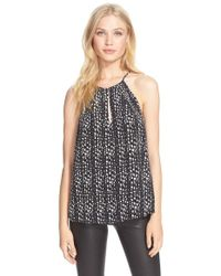Joie | Black 'acrux' Print Silk Sleeveless Top | Lyst