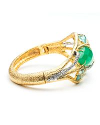 Alexis Bittar - Metallic Maldivian Multi-stone Hinged Bracelet - Lyst