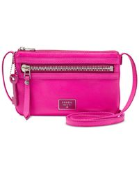 Fossil | Pink Dawson Leather Mini Crossbody | Lyst