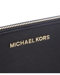 MICHAEL Michael Kors | Black Jet Set Continental Purse | Lyst